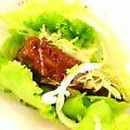 菜摘みロースカツバーガー